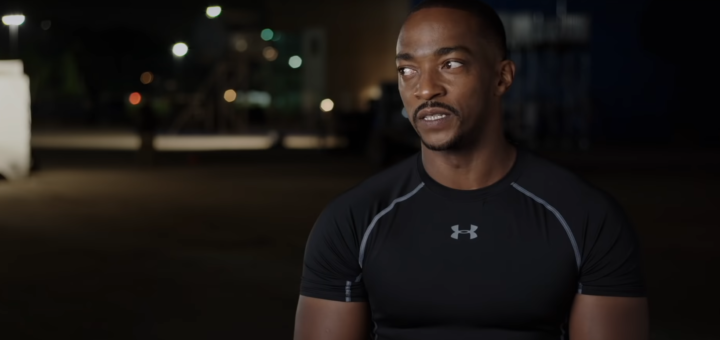 Anthony Mackie in Marvel Studios' Assembled: The Making of The Falcon and the Winter Soldier