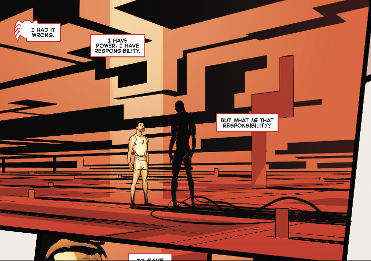 But what is that responsibility? in Spider-Man: Spider's Shadow #2