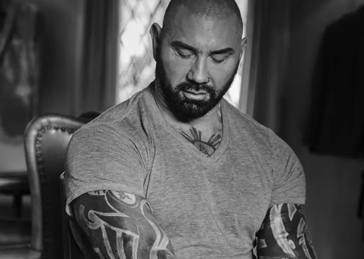 Dave Bautista in Black and White