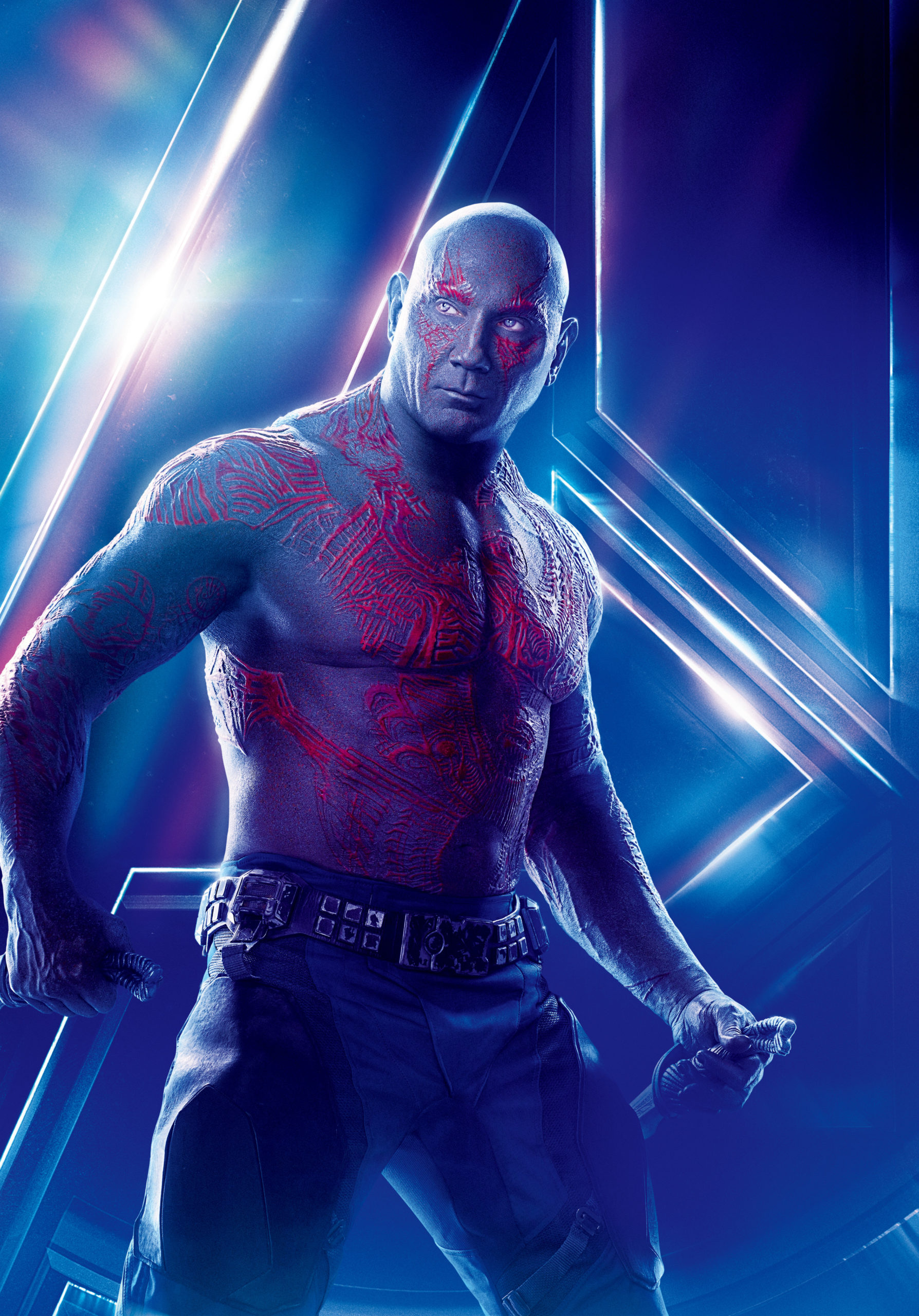 Drax on Avengers Poster