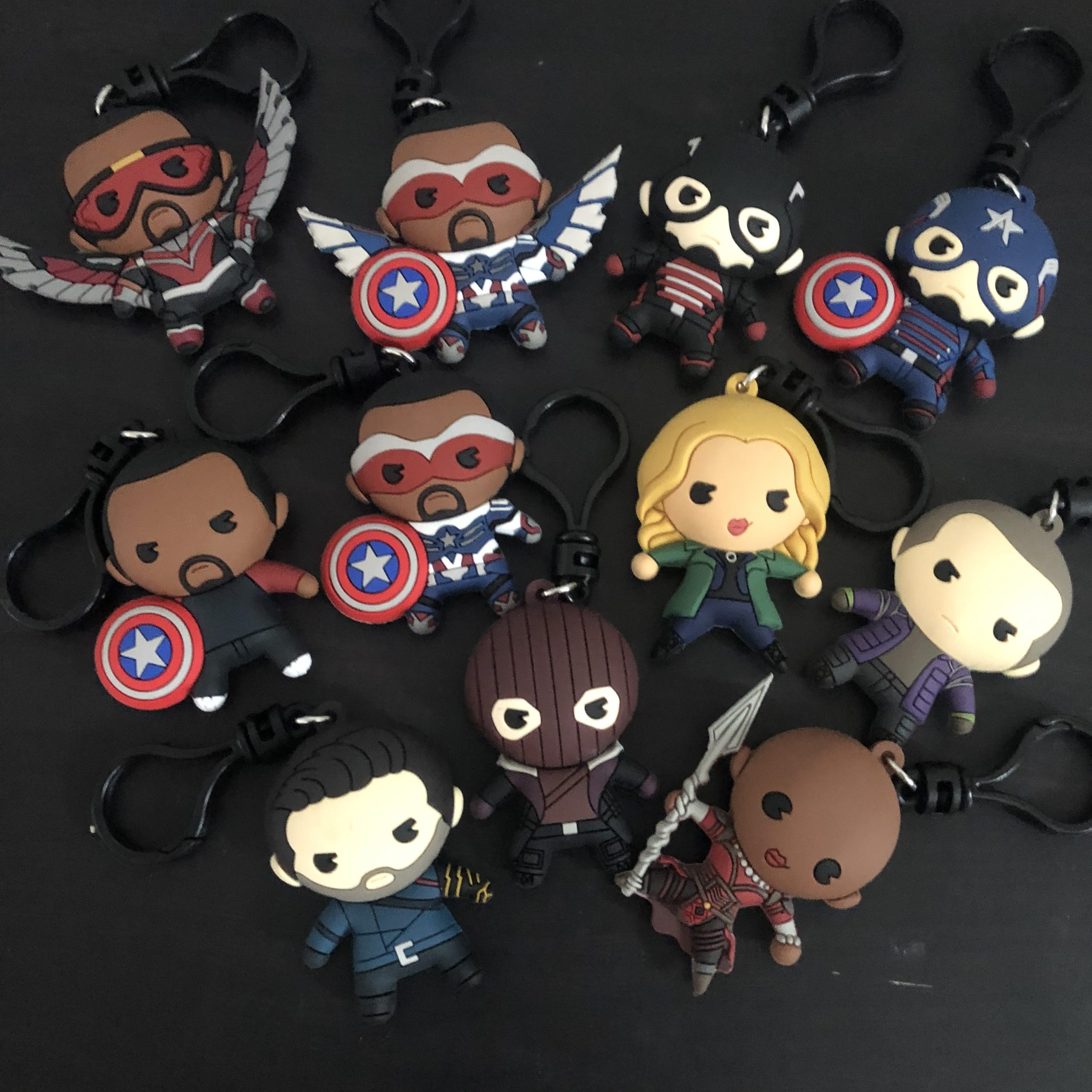 Front of Monogram The Falcon and the Winter Soldier Bag Clips