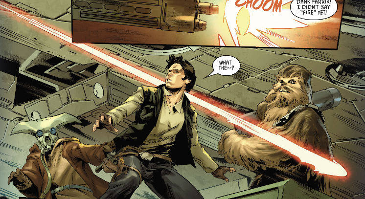 Han Solo and Chewie in Bounty Hunters 12