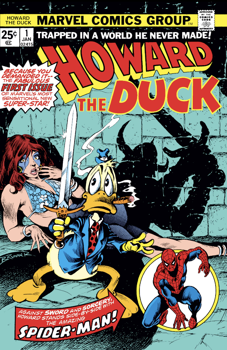Howard the Duck #1 and Spider-Man