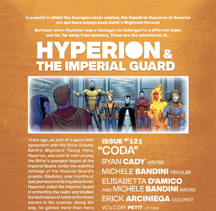 Hyperion and the Imperial Guard 121