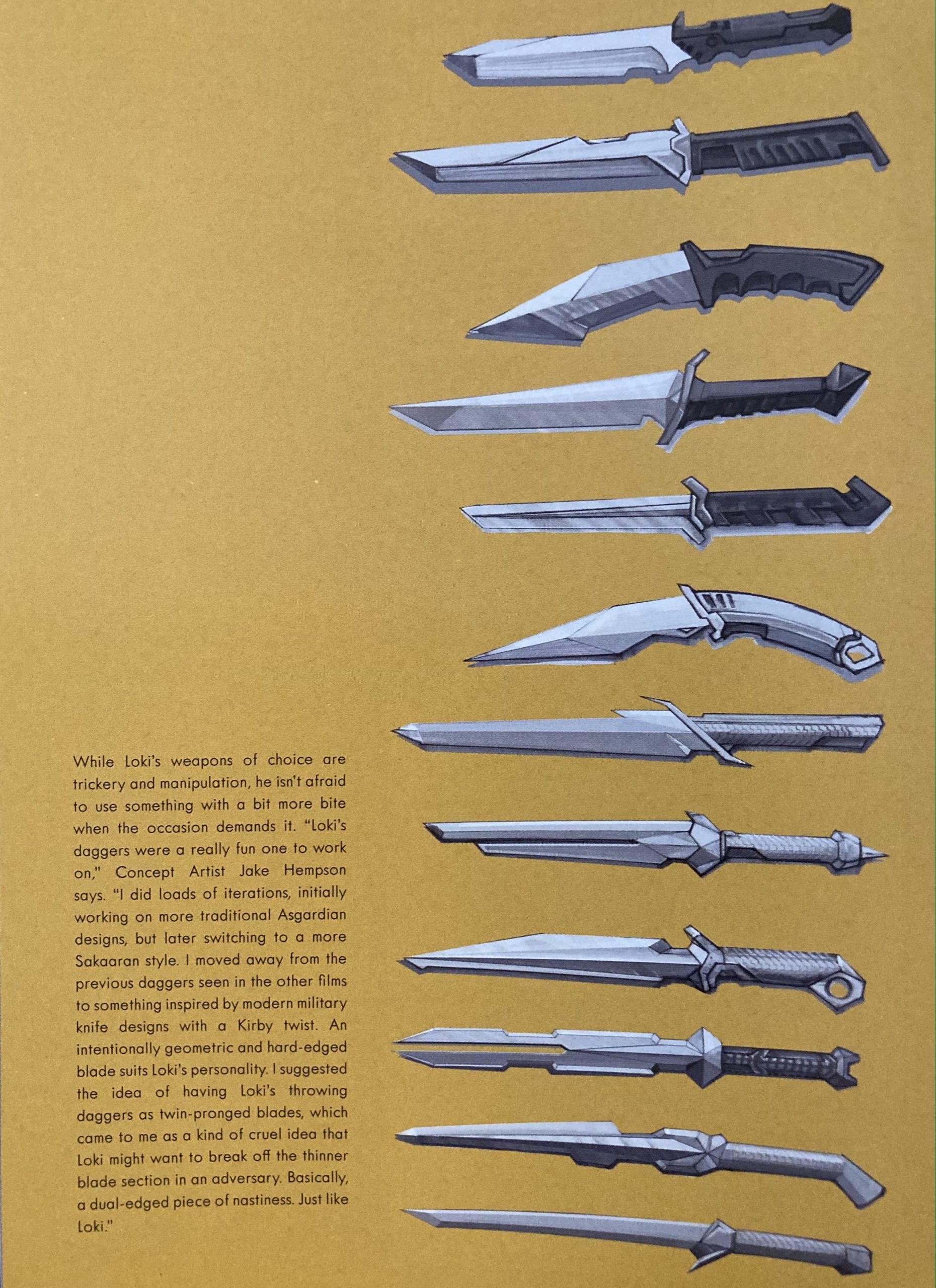 Loki's knives in The Art of the Movie