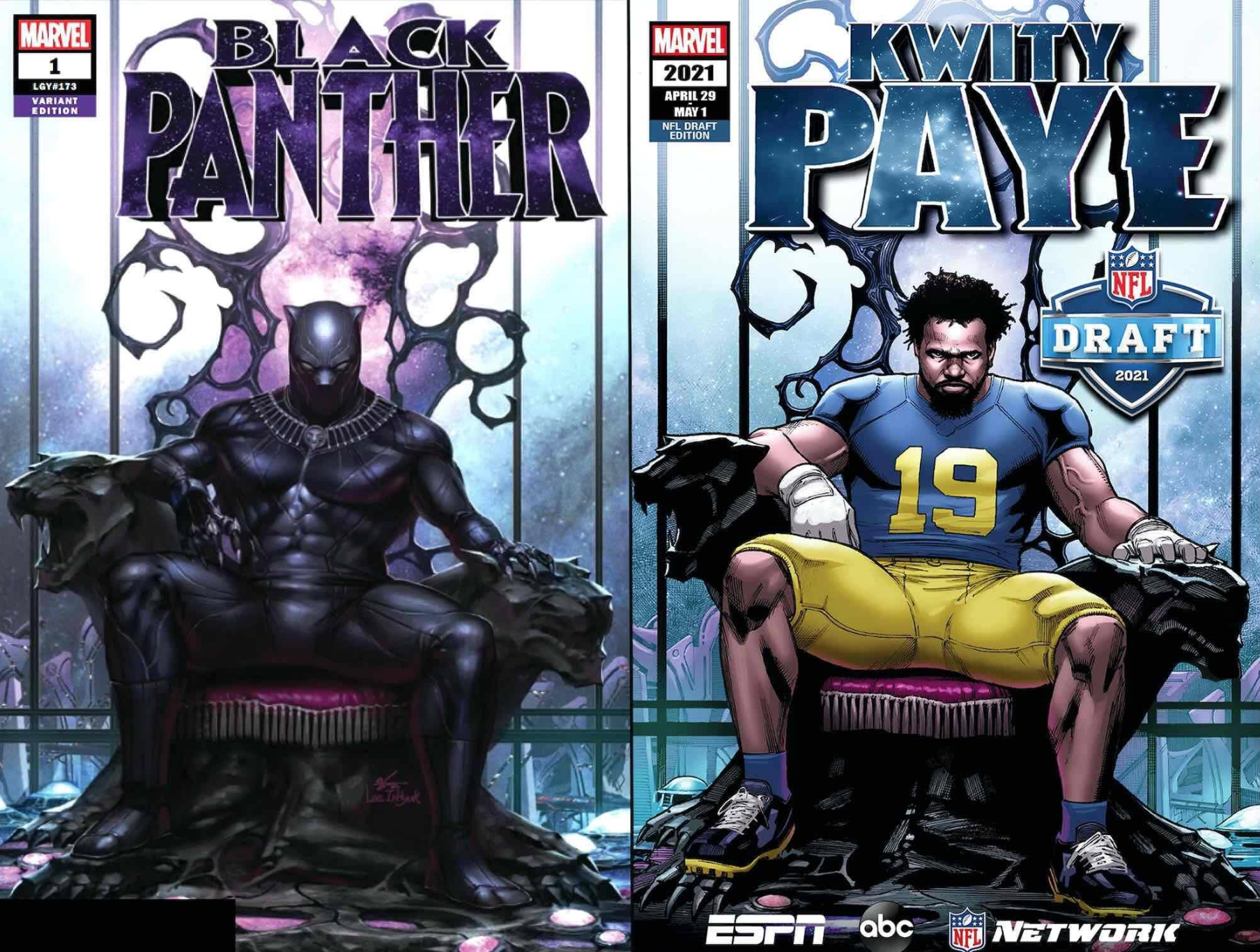 Kwity Paye after BLACK PANTHER #1 by InHyuk Lee