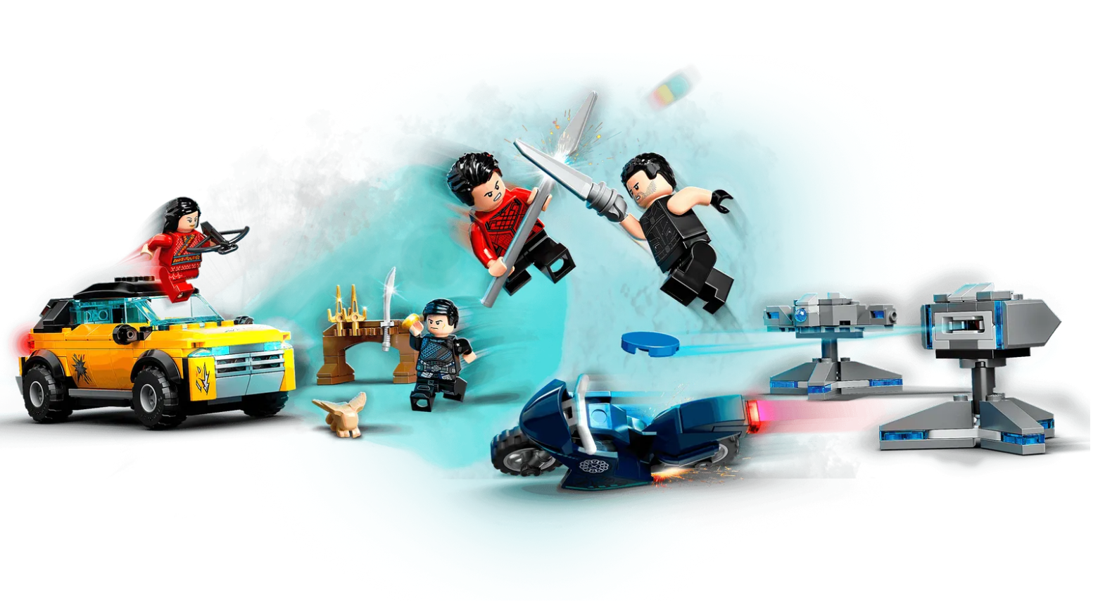 Shang Chi Lego Set in Action
