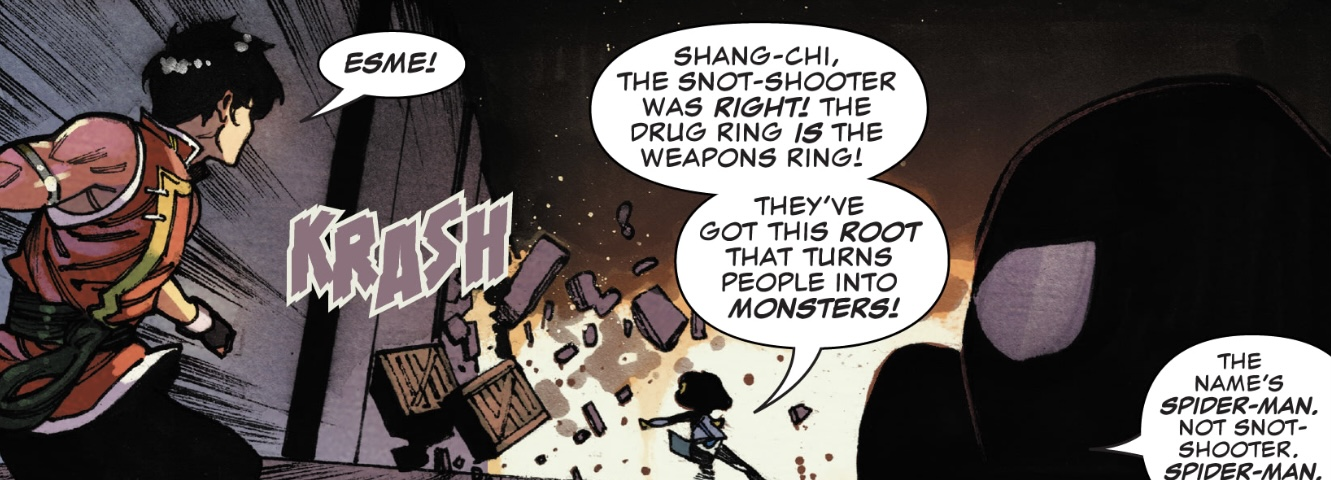 Shang-Chi vs. The Marvel Universe #1 Esme and Shang-Chi fight