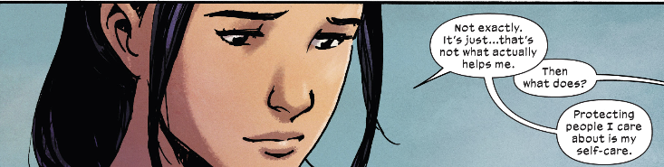 Silk engages in self-care