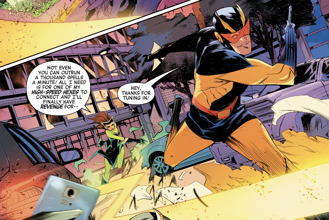 Silver Witch vs. Blur in Heroes Reborn #3