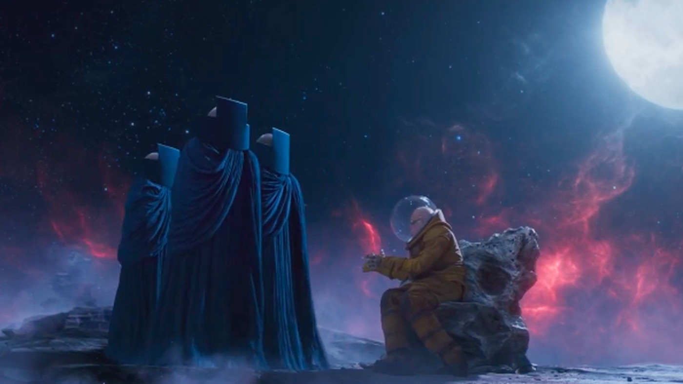 Uatu and Stan Lee in Guardians of the Galaxy