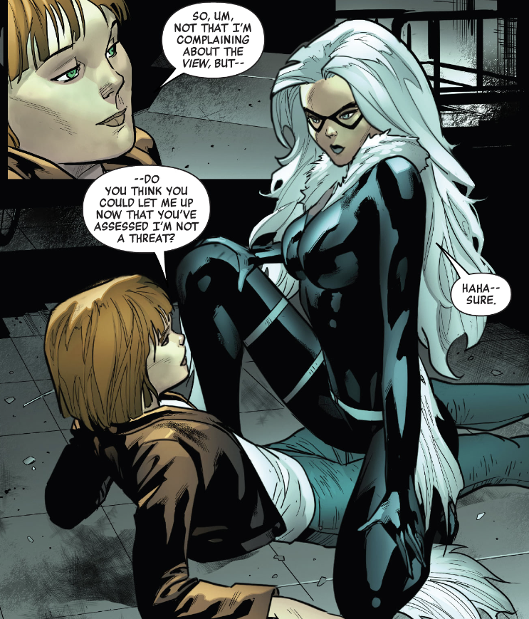 """""""When a Black Cat Crosses Your Path, You Give Them the Right of Way"""" in Marvel's Voices: Pride #1"""