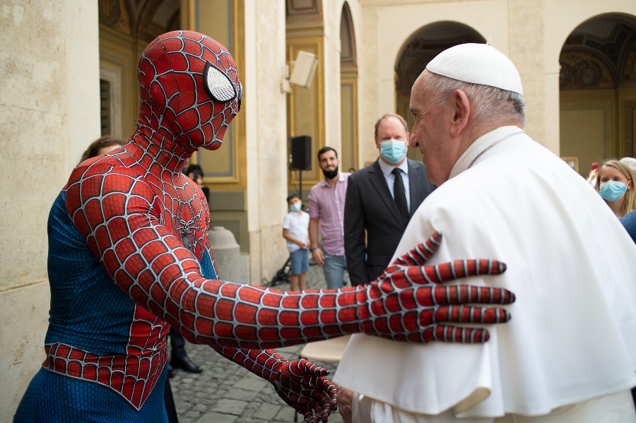 Spider-Man and Pope