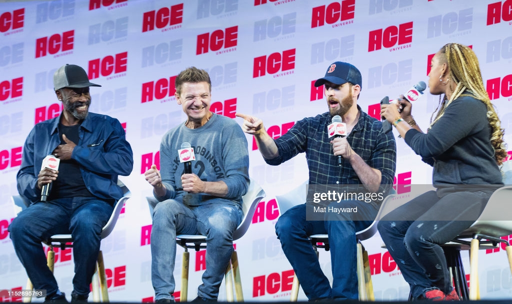 ACE Comic Con panel with Don Cheadle, Jeremy Renner, Chris Evans and Angelique Roche