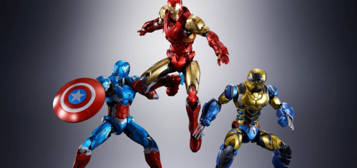Iron Man, Captain America, and Wolverine (TECH-ON AVENGERS)