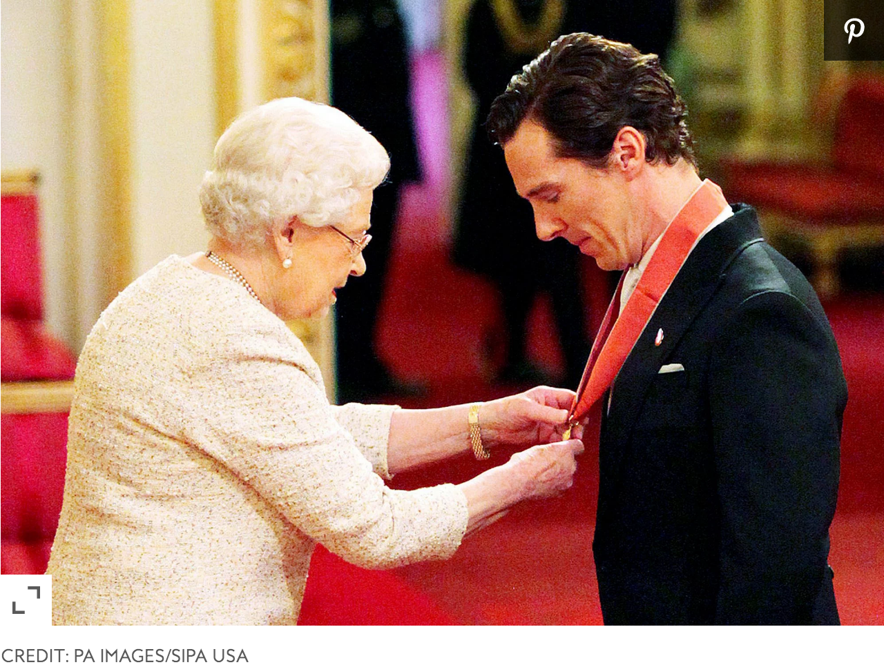 Benedict Cumberbatch Honored by Queen Elizabeth with CBE