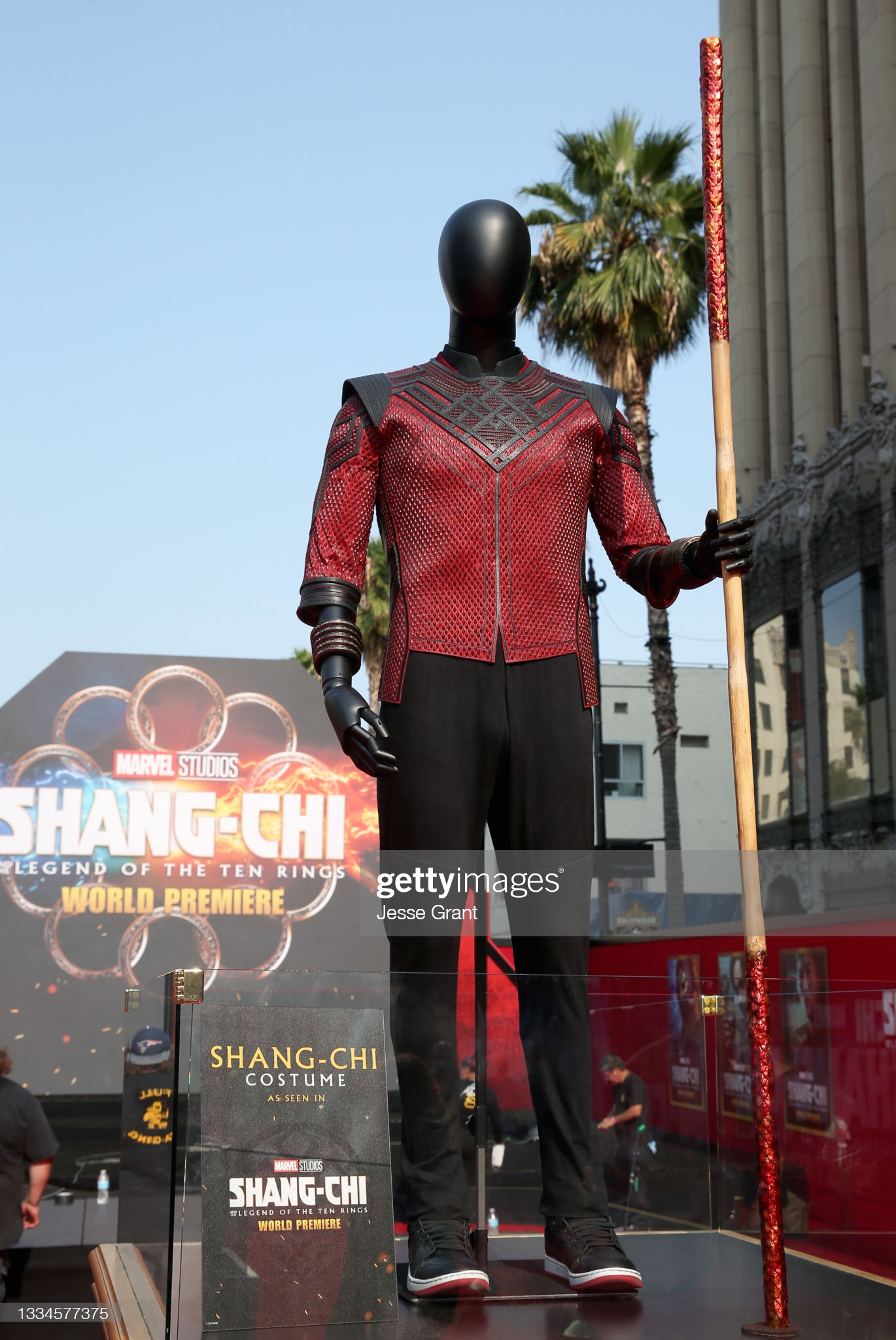 Shang-Chi costume at premiere