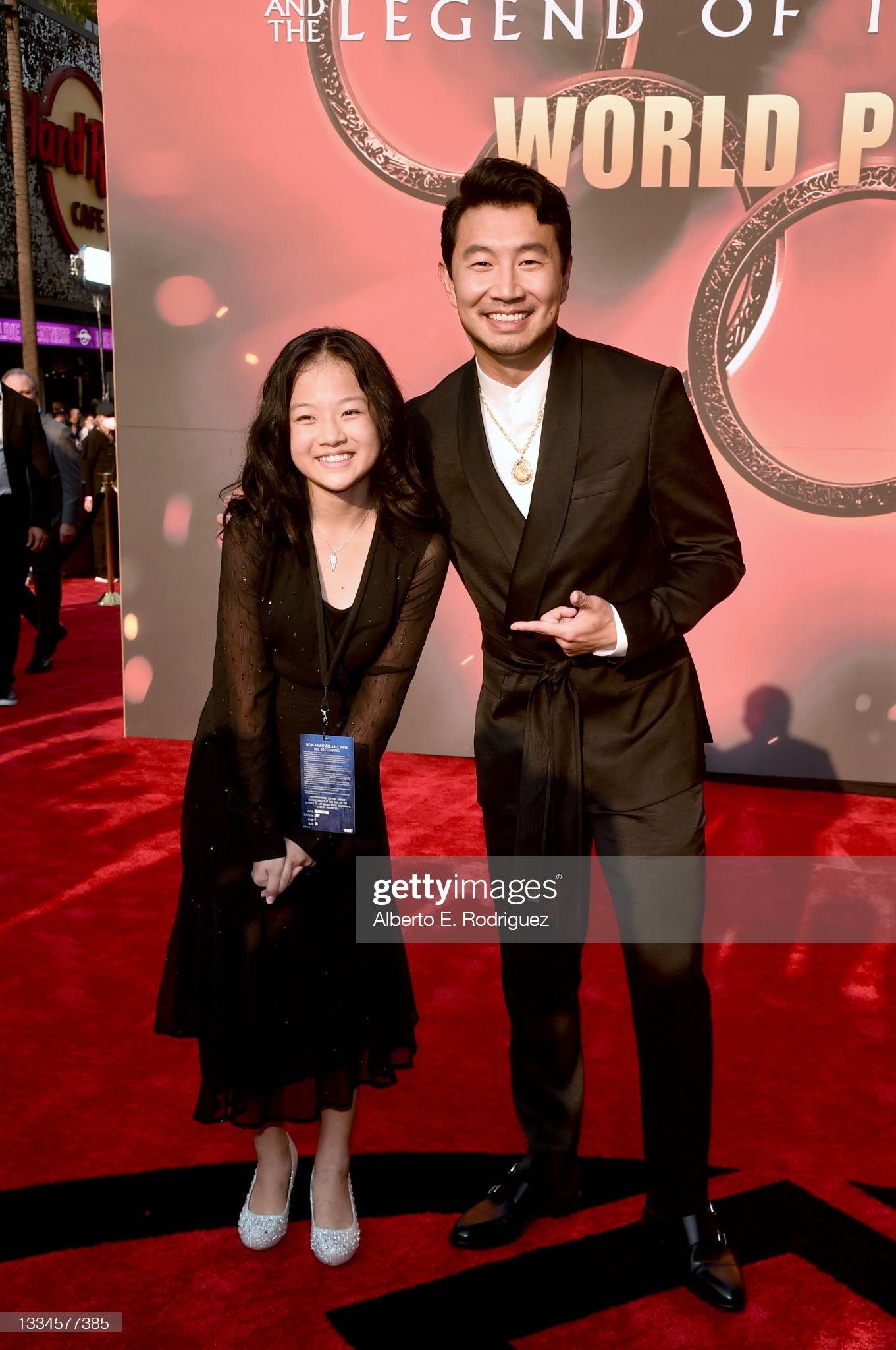 """Harmonie He and Simu Liu attend the """"Shang-Chi and the Legend of the Ten Rings"""" World Premiere"""