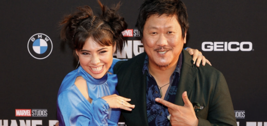 Benedict Wong and Gomez on Red Carpet