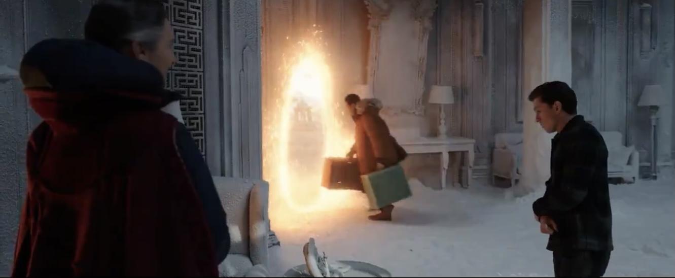 Wong leaving the Sanctum