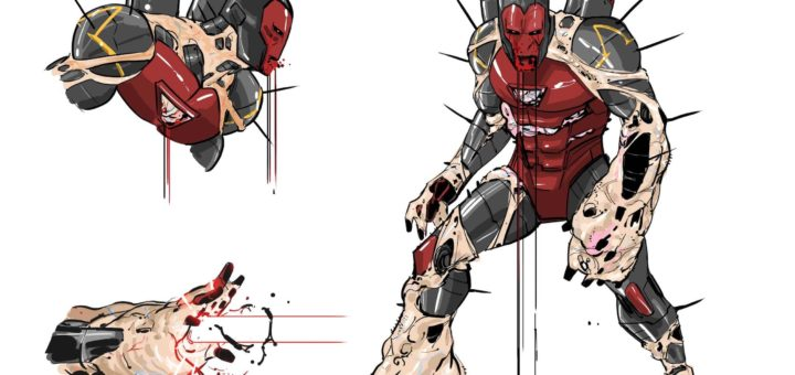 Iron Man defiled design by Cian Tormey