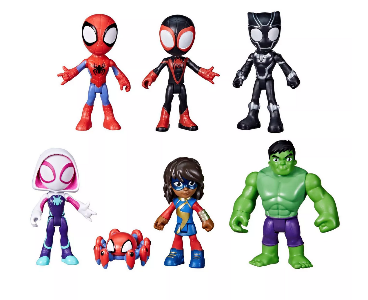 Marvel Spidey and His Amazing Friends Team Spidey and Friends Figure Collection 7pk