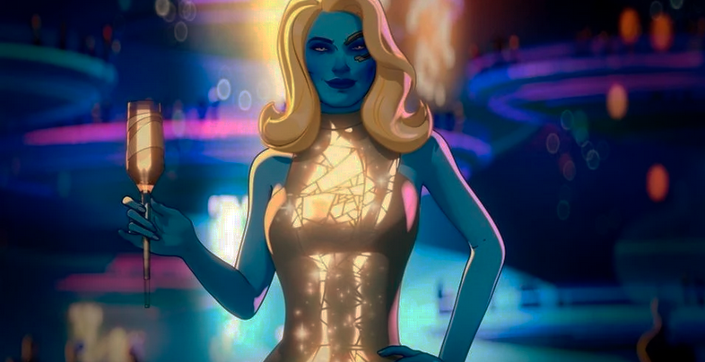 Nebula in a sequin dress in What If…?