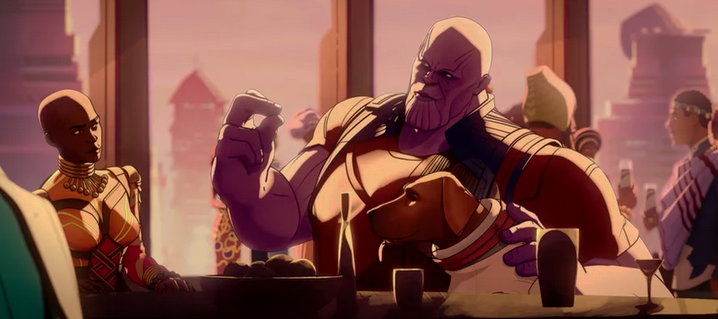 Thanos, Cosmo, Dora Milaje in What If…?