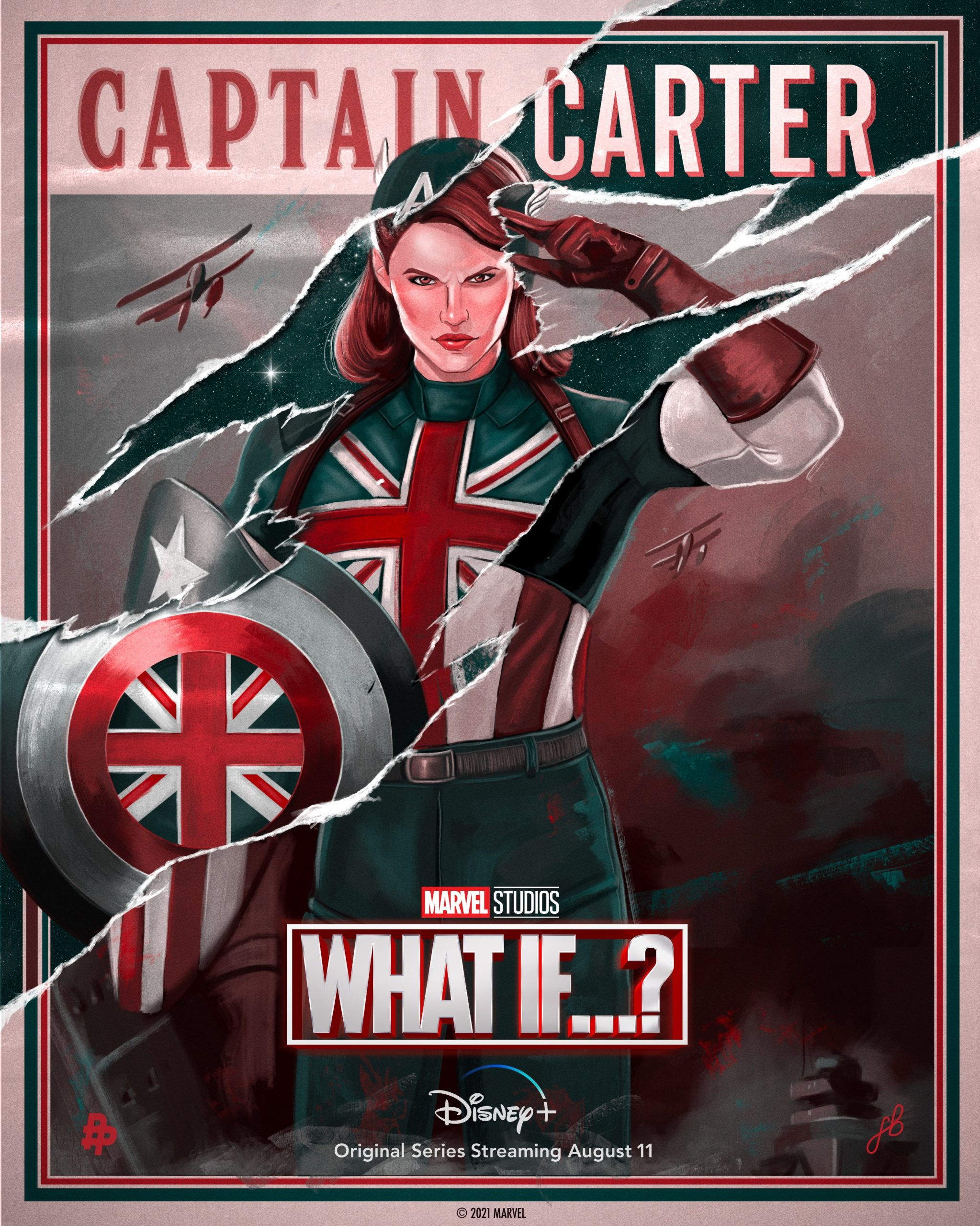 The Name is Captain Carter poster by Freya Betts