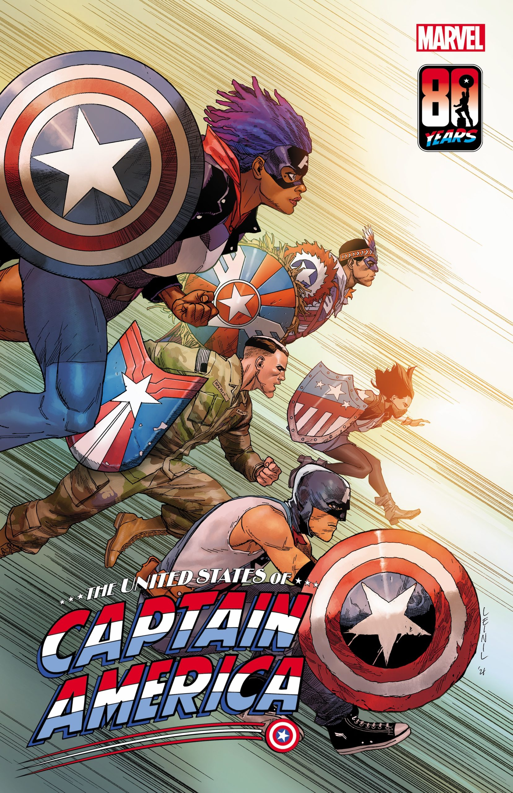 The United States of Captain America #5 variant by Leinil Yu