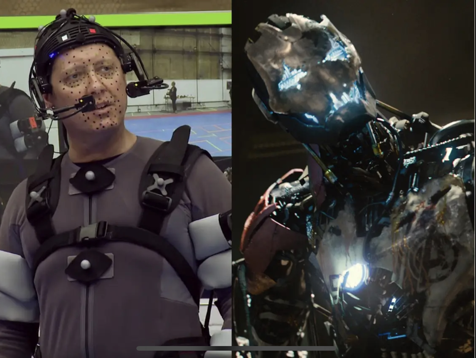 James Spader on set, and in Age of Ultron