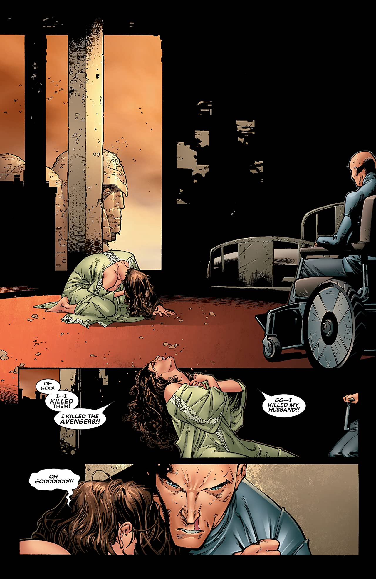 Wanda and Xavier in House of M #1