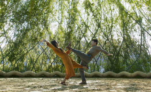 """Ying Nan (Michelle Yeoh) and Shang-Chi (Simu Liu) in """"Shang-Chi and the Legend of the Ten Rings"""""""