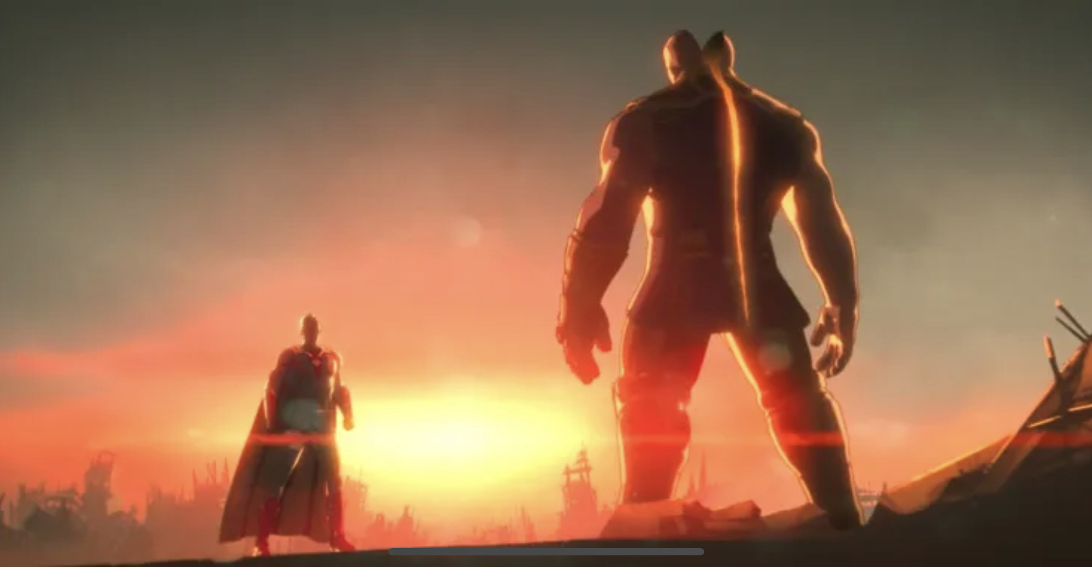 Ultron splits Thanos in half with a single beam