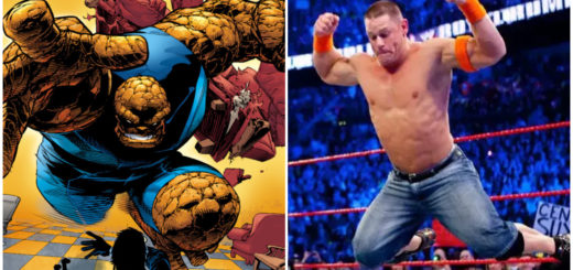 The Ultimate Thing and John Cena both bodyslam
