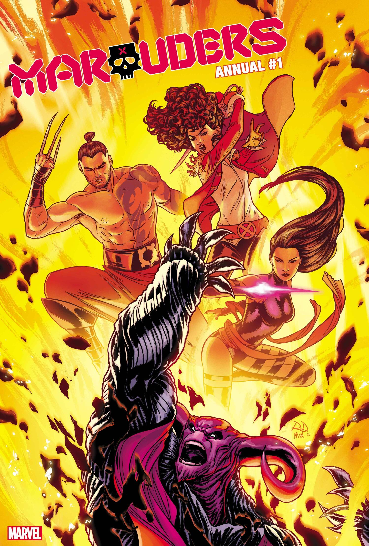 Marauders Annual #1 Cover by Russell Dauterman