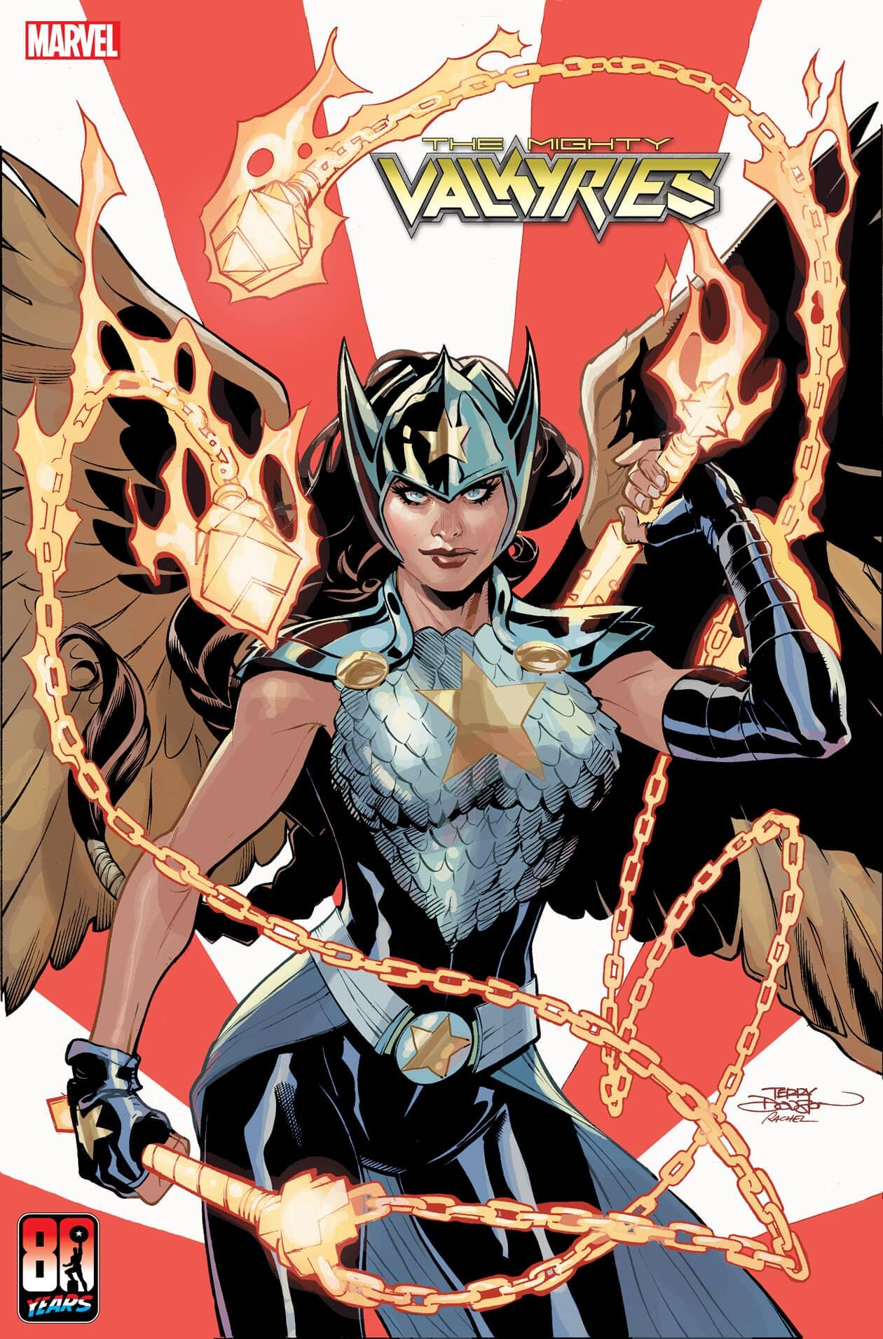 HE MIGHTY VALKYRIES #4 CAPTAIN AMERICA 80TH VARIANT COVER by TERRY DODSON & RACHEL DODSON